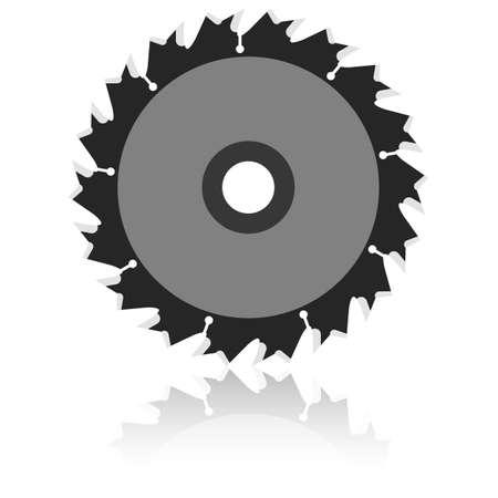 saw blade: Circular saw blade on a white background.