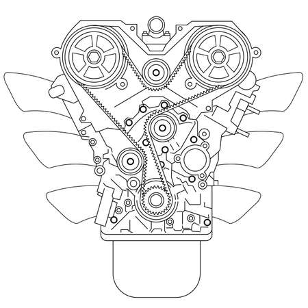 84 Four Stroke Engine Stock Illustrations Cliparts And Royalty Free