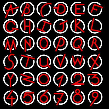 Decorative alphabet set Vector