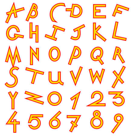 Decorative alphabet set Vector