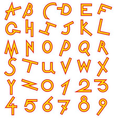Decorative alphabet set Stock Vector - 14729207