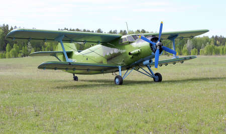 Biplane An-2 (Antonov)  at the airport Stock Photo - 14802864