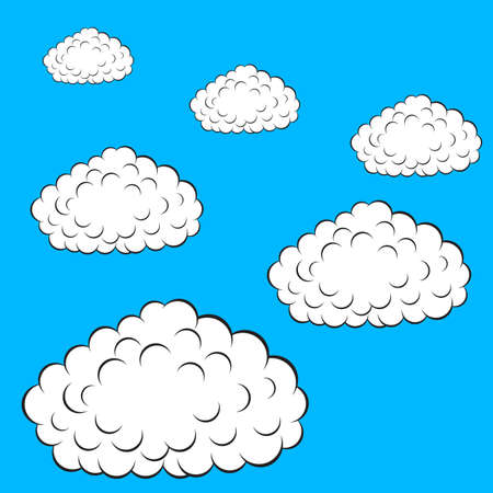 Set of  colorful clouds, vector illustration Stock Vector - 15137809