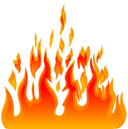 Burn flame fire vector background Vector