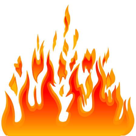 fireside: Burn flame fire vector background Illustration