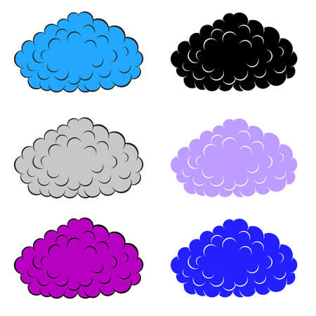 Set of  colorful clouds, vector illustration Stock Vector - 15137808