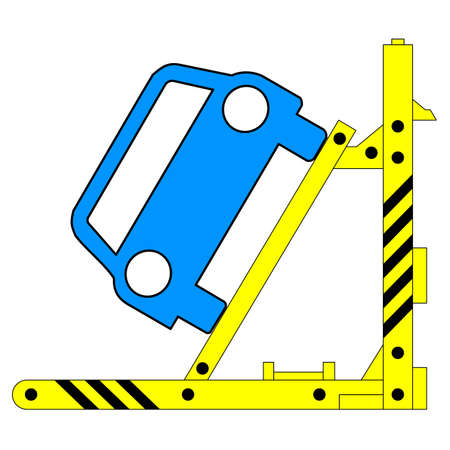Device for lifting a car repair. Vector illustration. Vector