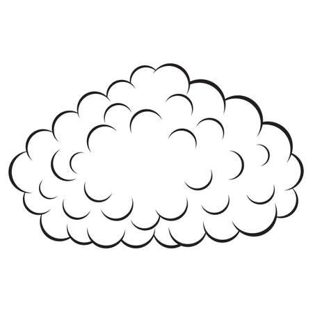 Cloud , vector illustration Stock Vector - 15137823