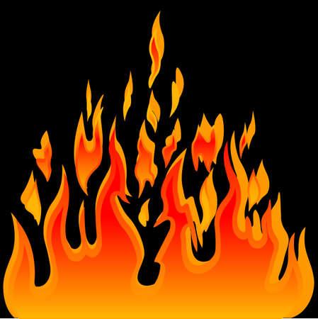 Burn flame fire vector background Ilustracja