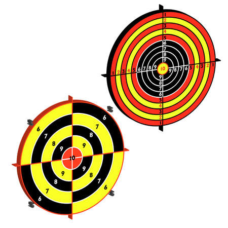 Set targets for practical pistol shooting, exercise  Vector illustration Stock Vector - 15705798