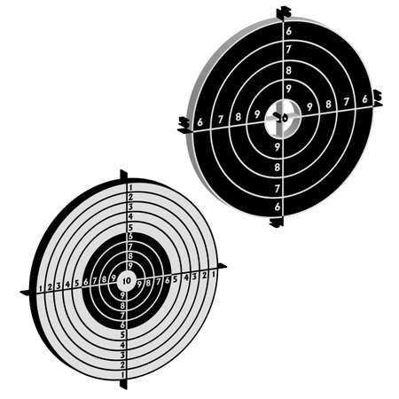 Set targets for practical pistol shooting, exercise  Vector illustration Vector