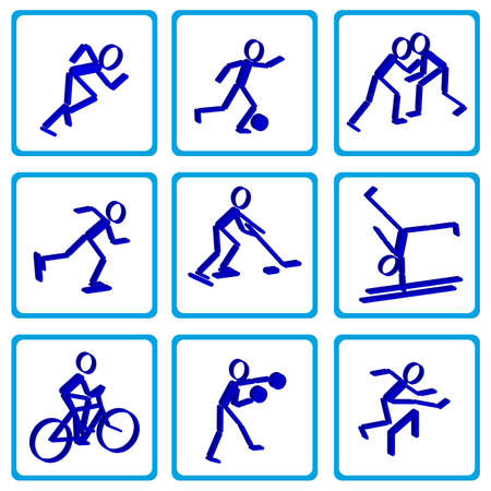 Set of black with shade sport icons Stock Vector - 15705794