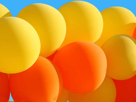 Background of beautiful balloons photo