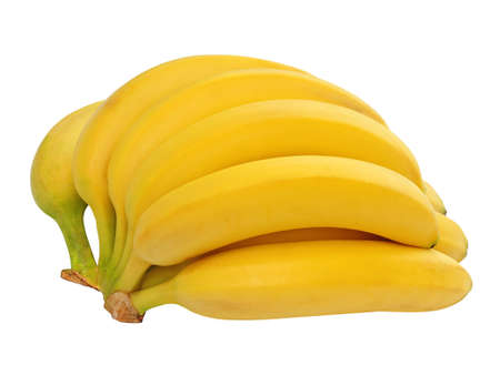 Bunch of bananas isolated on white background photo