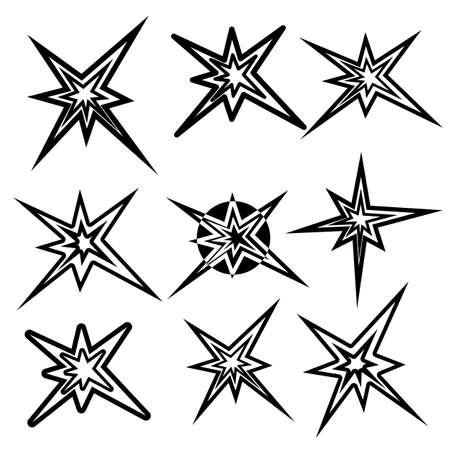 Lightning symbols. vector set Stock Vector - 16114273