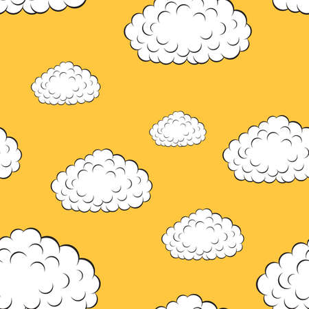 clouds seamless wallpaper, vector illustration Stock Vector - 16114292