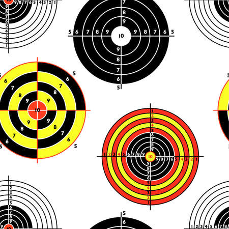 targets for practical pistol shooting, seamless wallpaper, vector illustration  Vector