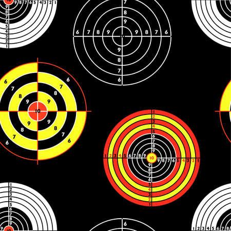 targets for practical pistol shooting, seamless wallpaper, vector illustration  Vector