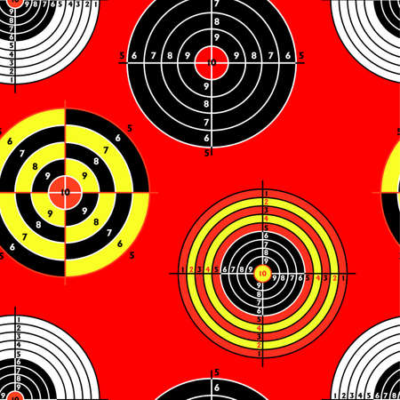targets for practical pistol shooting, seamless wallpaper, vector illustration Stock Vector - 16423503