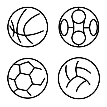 Set sport balls. Vector illustration Vector