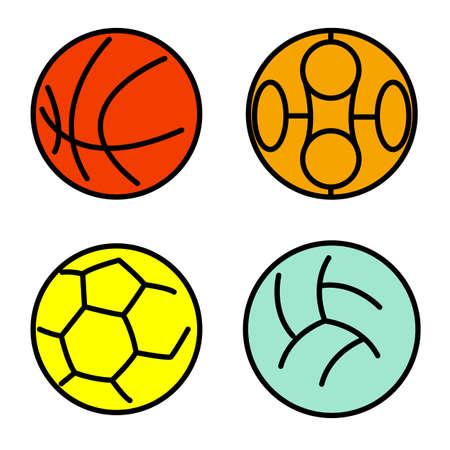 Set sport balls. Vector illustration Vector