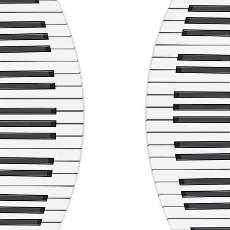 white sheet: music background with piano keys. vector illustration.