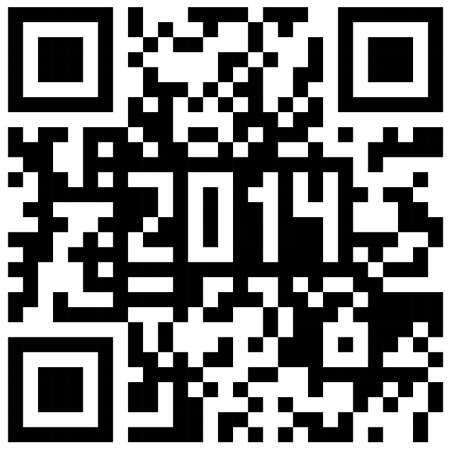 2014 New Year counter, QR code