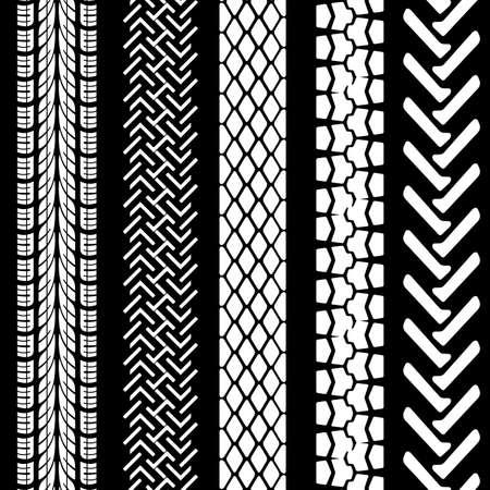 Set di stampe di pneumatici dettagliati Archivio Fotografico - 16719621