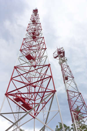 communications tower for tv and mobile phone signals photo