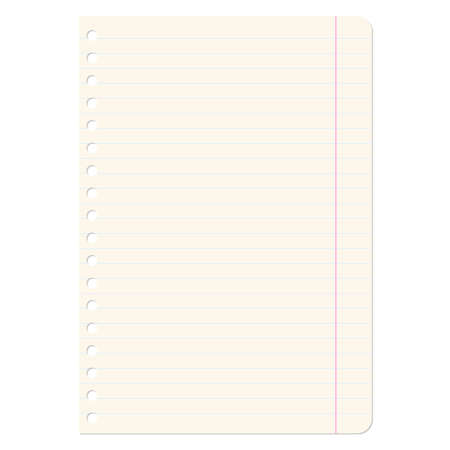 Blank sheets of paper sheet in line  Vector illustration  Stock Vector - 17015950