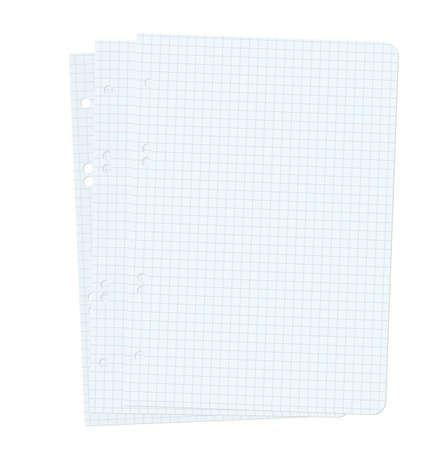 Three blank sheets of paper sheet  Vector illustration  Stock Vector - 17015929