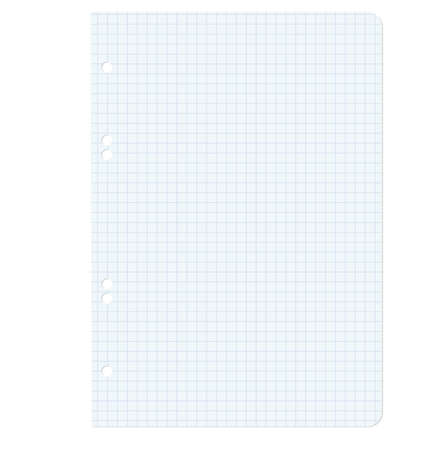 White squared blank white paper sheet  Vector illustration  Stock Vector - 17015963
