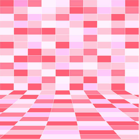 abstract pink halftone background of rectangles  Vector illustration  Stock Vector - 17015953