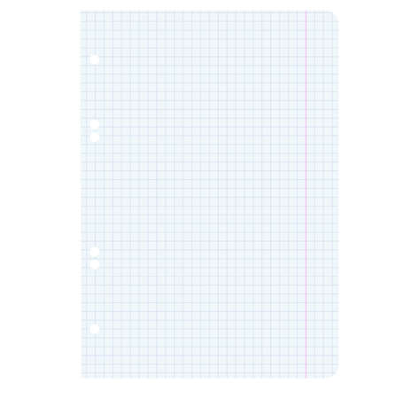 White squared blank white paper sheet  Vector illustration  Vector