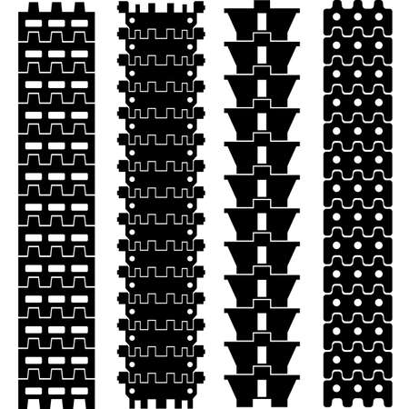 Set of detailed trace track tractor prints, vector illustration Stock Vector - 17015947