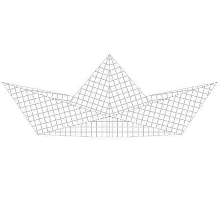 Paper ship origami isolated on white background. vector illustration Stock Vector - 17420618