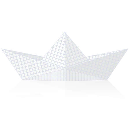 Paper ship origami isolated on white background  vector illustration Vector