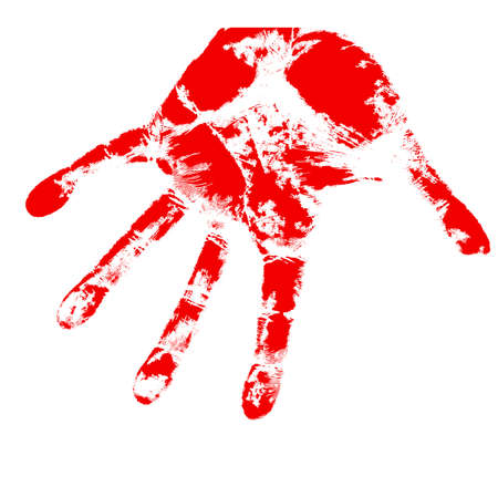 bloody hand prints, on a white background, vector Stock Vector - 17420564