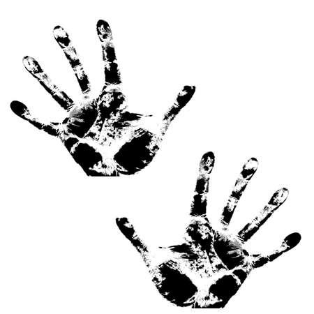 Hand print, skin texture pattern, vector illustration Stock Vector - 17420555
