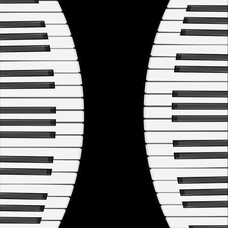 virtuoso: music background with piano keys.  illustration.