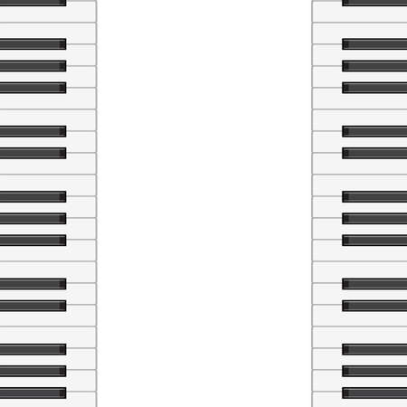 music background with piano keys.  illustration.  Vector