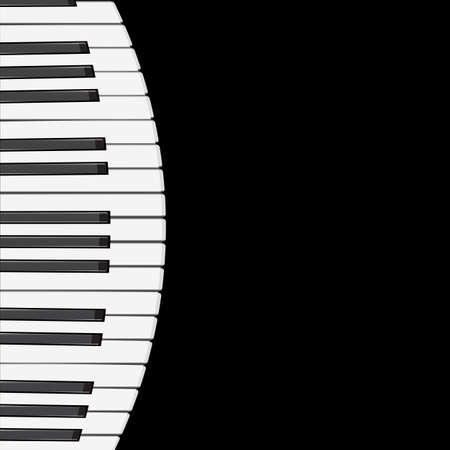 music background with piano keys   illustration   Vector