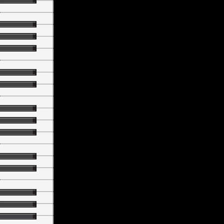 sheet music: music background with piano keys   illustration   Illustration