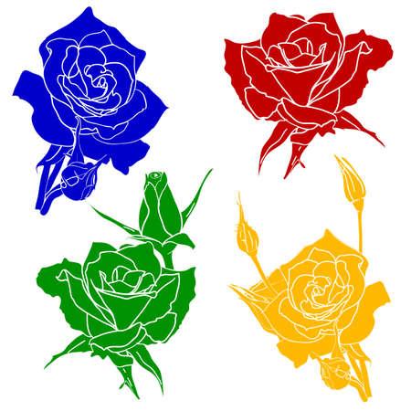 tattoo rose flower Stock Vector - 17794509