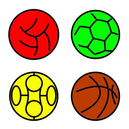 Set sport balls.  illustration Vector