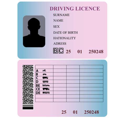 Prawo jazdy ilustracji