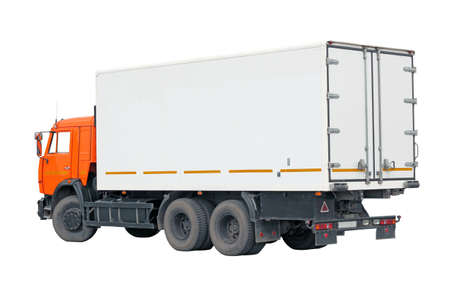 truck with a container on a white background  Stock Photo - 17794526