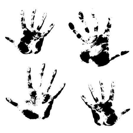 Hand print, skin texture pattern illustration. Vector