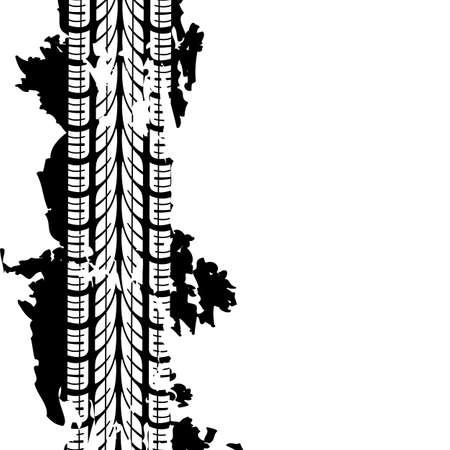 treads: Abstract background tire prints illustration