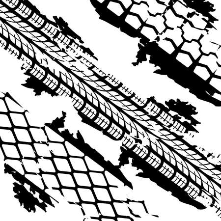 tread: Abstract background tire prints illustration